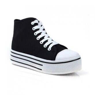 shoes converse black and white platform shoes creepers pale grunge soft grunge monochrome