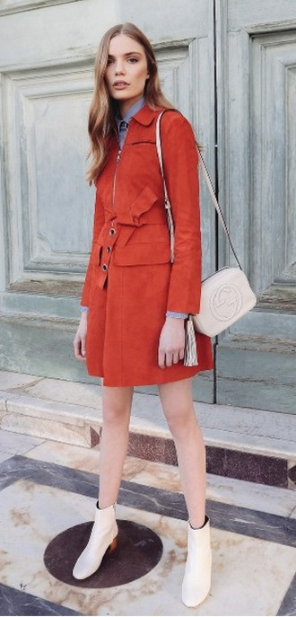 coat designer red suede spring outfits model trench coat sportmax luxury high end summer classic