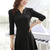 Cheap Charming V Neck Puff Sleeve Black Empire Waist Dress in women dress from women clothing on sightface.com