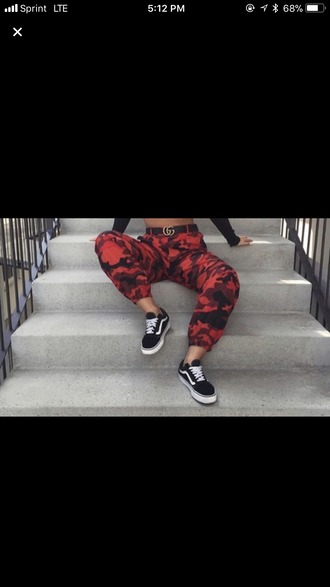 pants camouflage red camo jeans