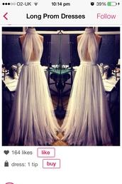 dress,halterneck,beautiful,long,prom dress,cute,pretty,amazing,bridesmaid,2014,white dress,gown