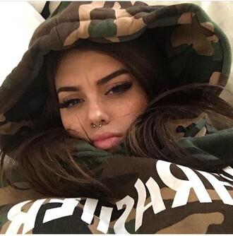 jacket camouflage camo jacket hoodie sweater camouflage sweater