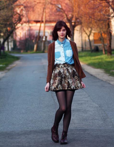 mes memos skirt shirt shoes sweater