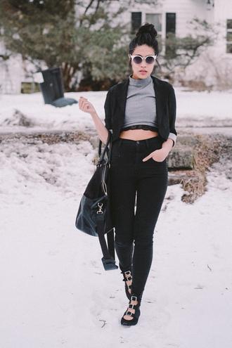 love you duh jeans t-shirt jacket sunglasses
