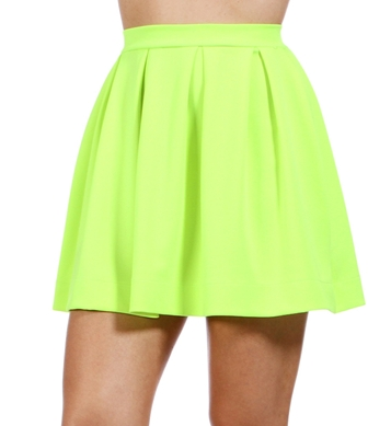 Neon Yellow Back Zipper Skirt #2: 72rtc8 i