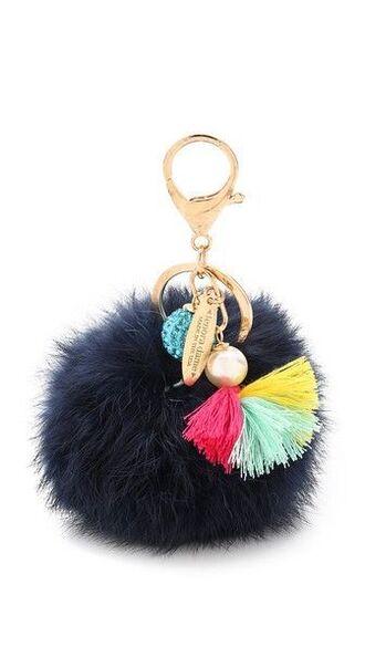 bag bag charm keychain cute fur keychain fuzzy ball keychain puffy keychain