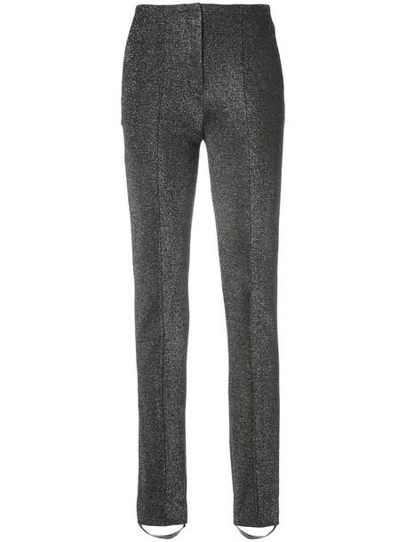 high women cotton black pants