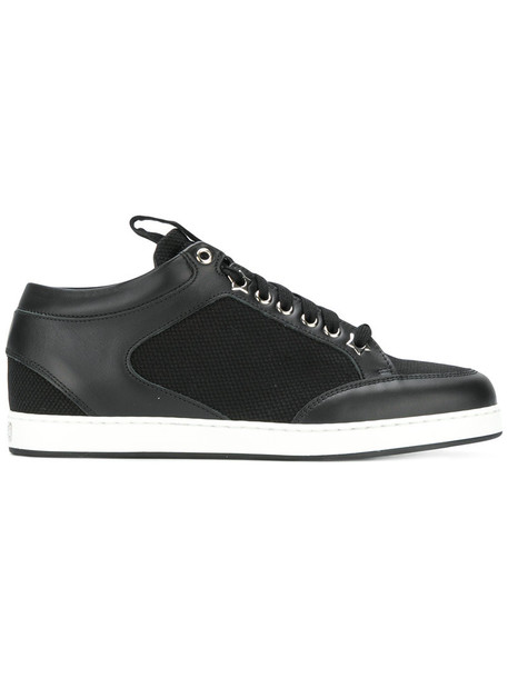 Jimmy Choo women miami sneakers leather black shoes