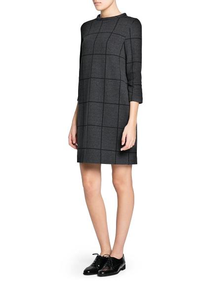 MANGO - CLOTHING - Dresses - Check shift dress