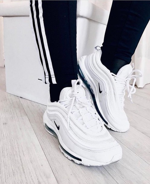 shoes nike air max air max Air max 97 nike air max 97 sneakers black sneakers air max 95 swoosh black shoes air max 97 white sneakers streetstyle streetwear sportswear