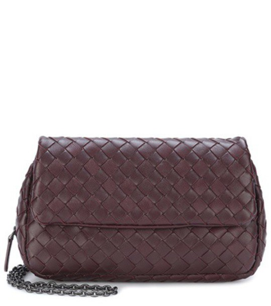 Bottega Veneta bag shoulder bag leather purple