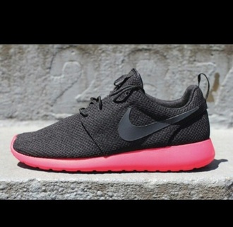 shoes black pink nike runners joggers style cool most of these tags are random