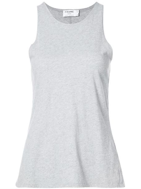 Frame Denim - Army tank top - women - Cotton - XS, Grey, Cotton