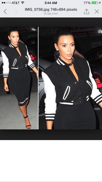 kim kardashian baseball jacket