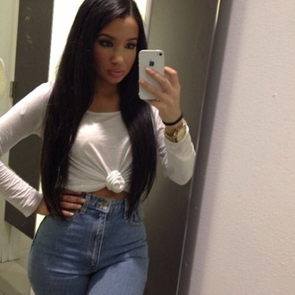 jeans high waisted india westbrooks shirt