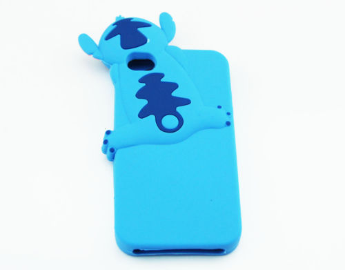 Blue Cute Stitch Soft Silicone Rubber Back Cover Case for Apple iPhone 4 4S PP | eBay
