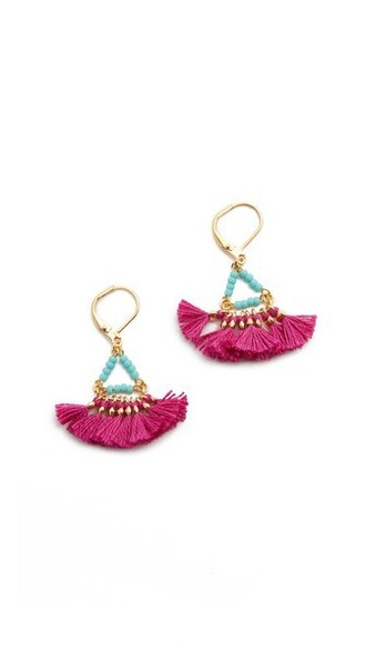 earrings magenta jewels
