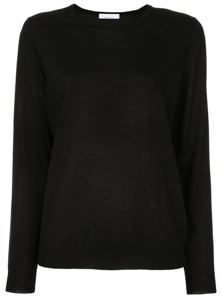 Jean Paul Knott top women black silk wool
