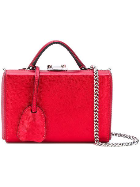 Mark Cross mini women bag cotton red