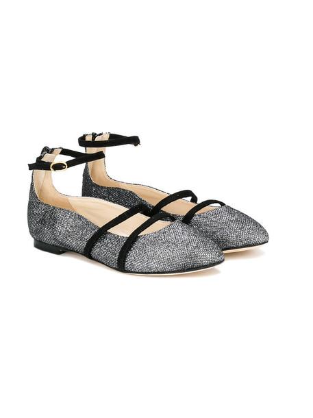 Prosperine Kids leather grey metallic shoes