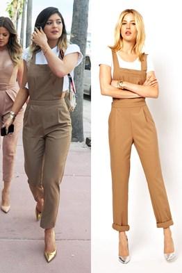 Kylie Jenner dungarees - Kylie Jenner jumpsuit - ASOS (Glamour.com UK)