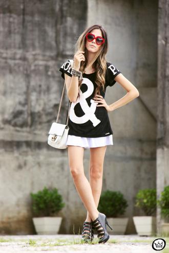 fashion coolture t-shirt skirt bag sunglasses shoes