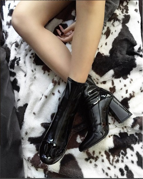 4609995d8 shoes, vinyl, boot, high heels boots, ankle boots, pvc, shiny ...
