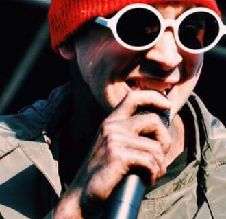 sunglasses white dress josh dun tyler joseph twenty one pilots punk hipster