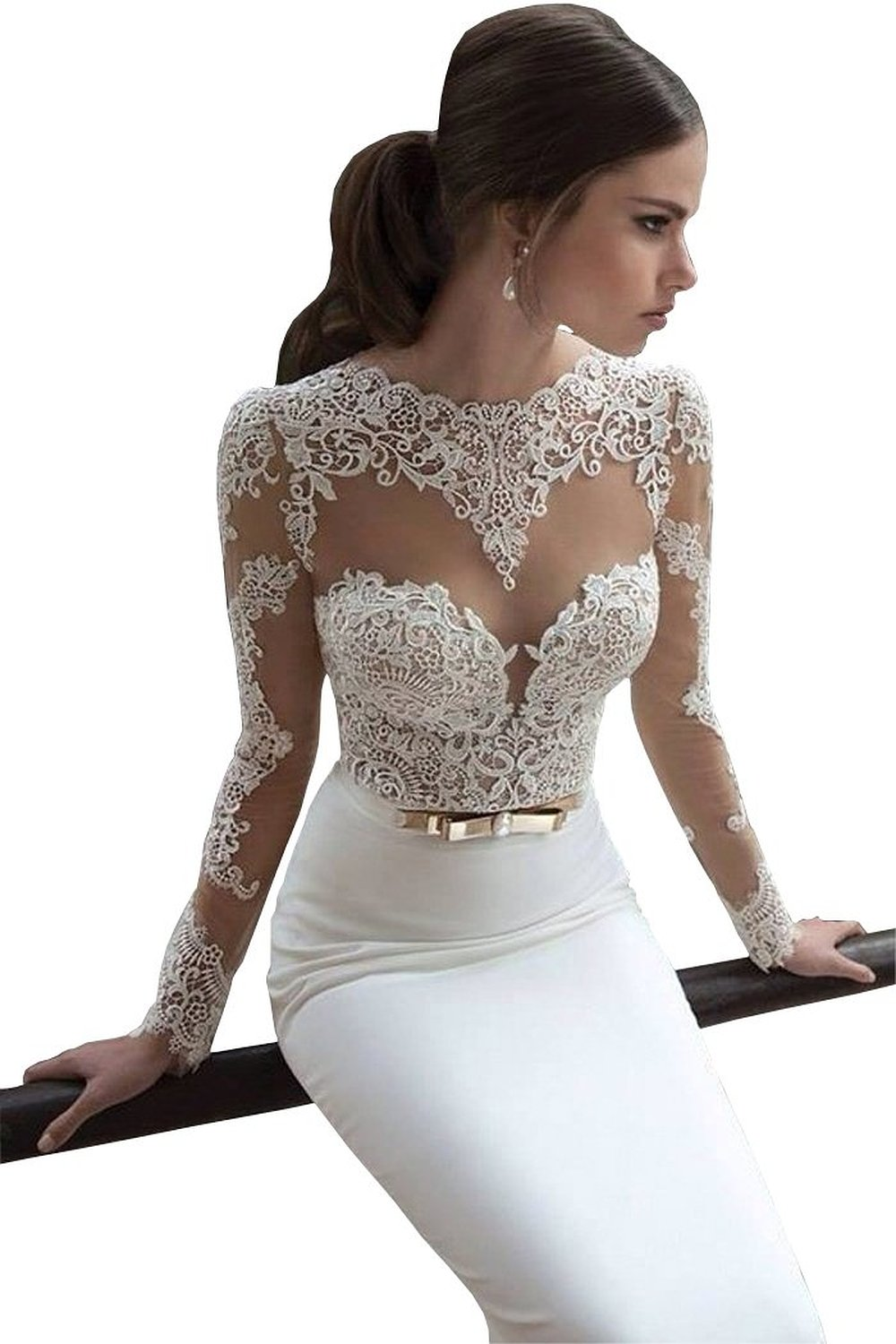 Dress Prom Dresses Formal Dresses Long Sleeve Lace Party Wedding