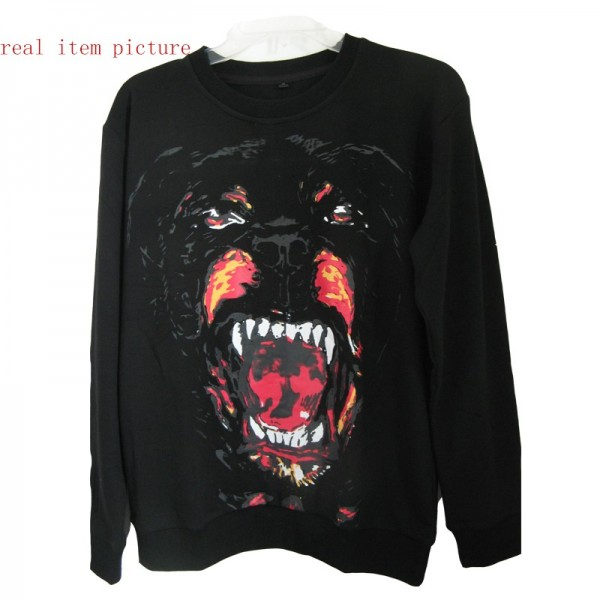 Women Dog Rottweiler Face Print Long Sleeve Jacket Sweater Sweatershirt Jumper | eBay
