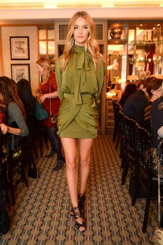 shirt blouse fashion week 2014 rosie huntington-whiteley