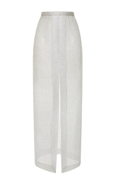 Silver sparkles pencil skirt by emilia wickstead