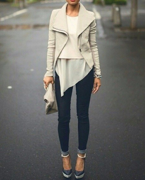 jacket perfecto cream
