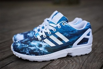 shoes waves adidas zx flux jeans