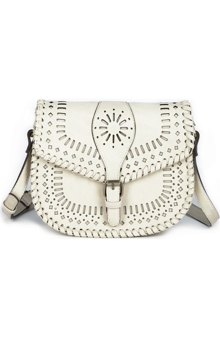 47af92ee01 Sole Society 'Kianna' Perforated Faux Leather Crossbody Bag ...