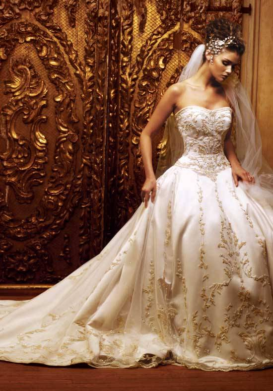Inexpensive  wedding dresses: Discount wedding dresses online  » Blog Archive   » Beautiful Ivory Embroidered Wedding Dress