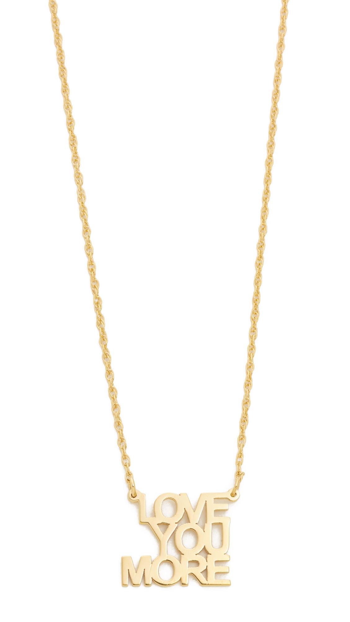 daea945aa Jennifer Zeuner Jewelry Love You More Necklace - Gold