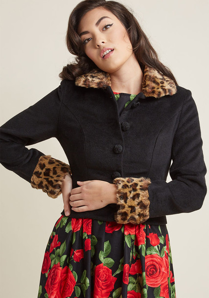 collectif jacket cropped jacket retro cropped fur
