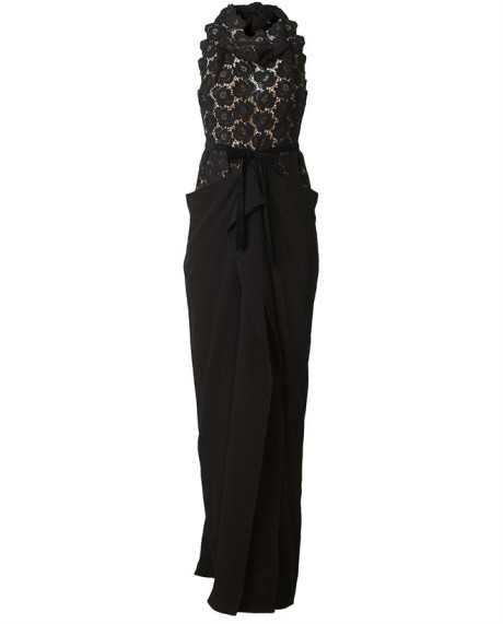 Roland Mouret Hexam Macramé Lace Gown in Black | Lyst