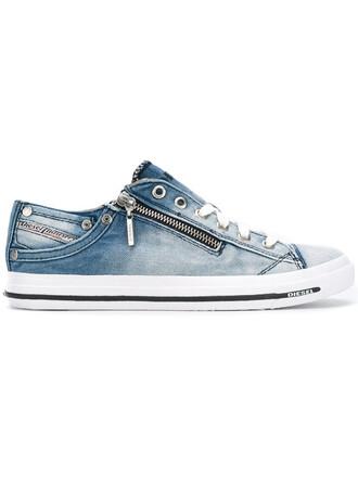 denim women sneakers lace cotton blue shoes