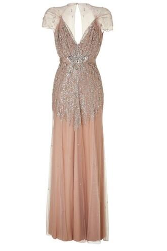 dress cap sleeve sequin dress pink dress sheer
