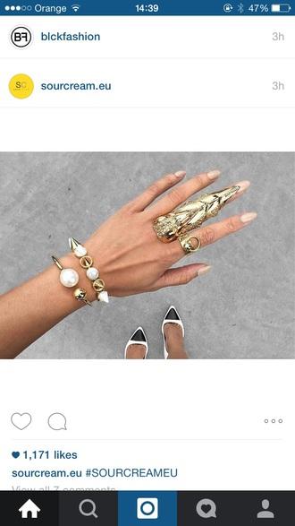 jewels jewelry bracelets stacked bracelets gold pearl pearl bracelet pearl jewelry