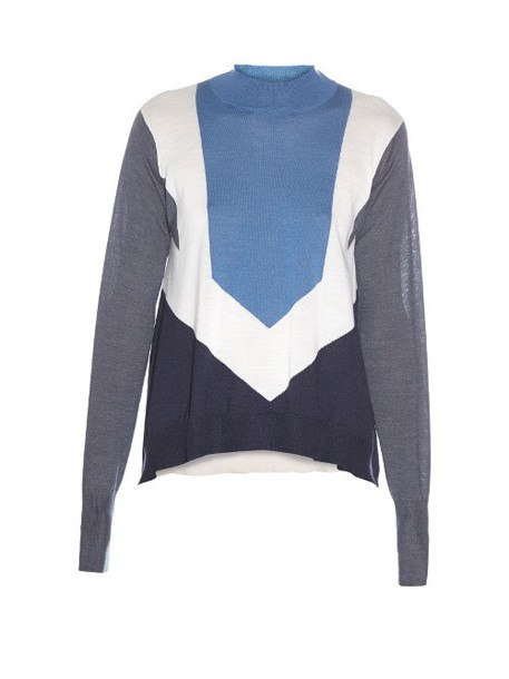 sweater knitted sweater blue
