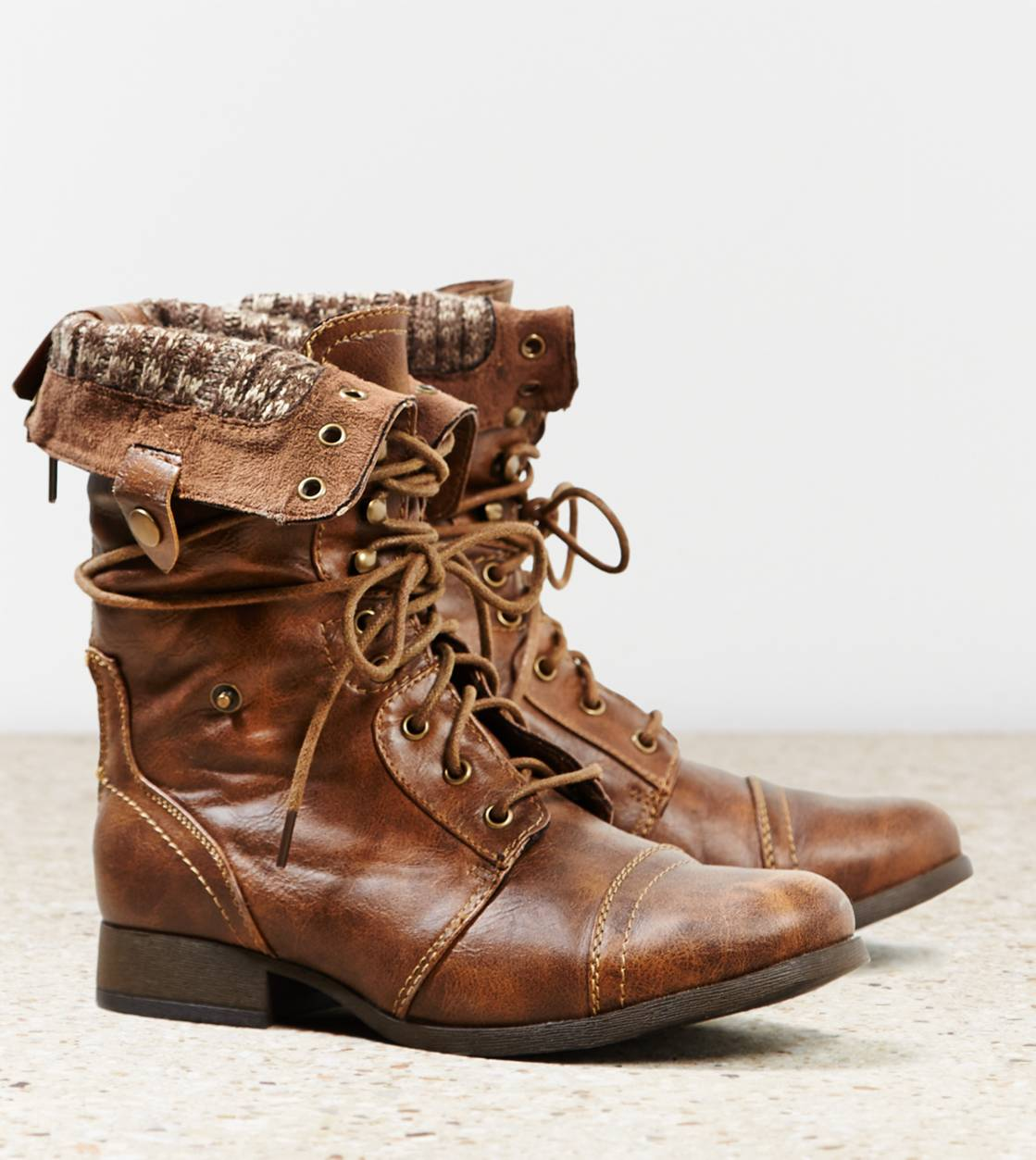 AEO Lace-Up Boot, Brown | American Eagle Outfitters