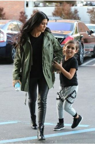 jacket top military style kourtney kardashian pants