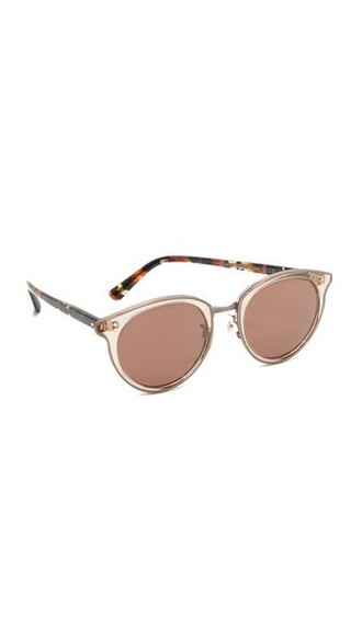 rose gold rose sunglasses gold burgundy blush