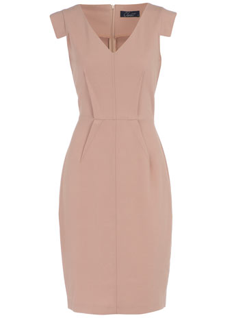 Blush dart dress