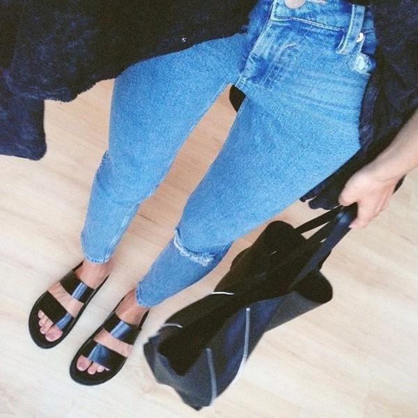 shoes sandals jeans