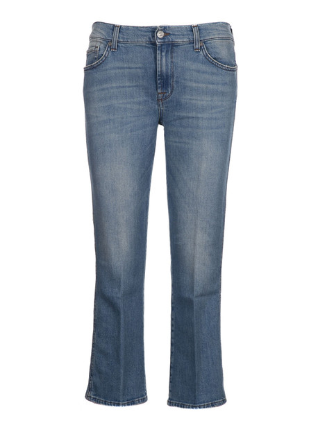 7 For All Mankind Mid Rise Jeans in blue