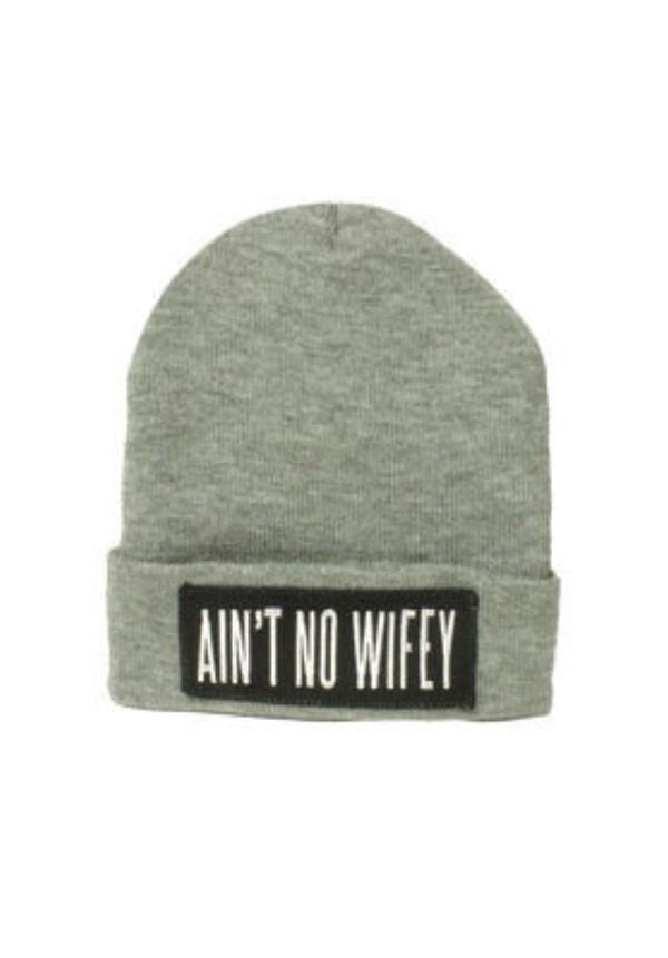 hat aint no wifey beanie